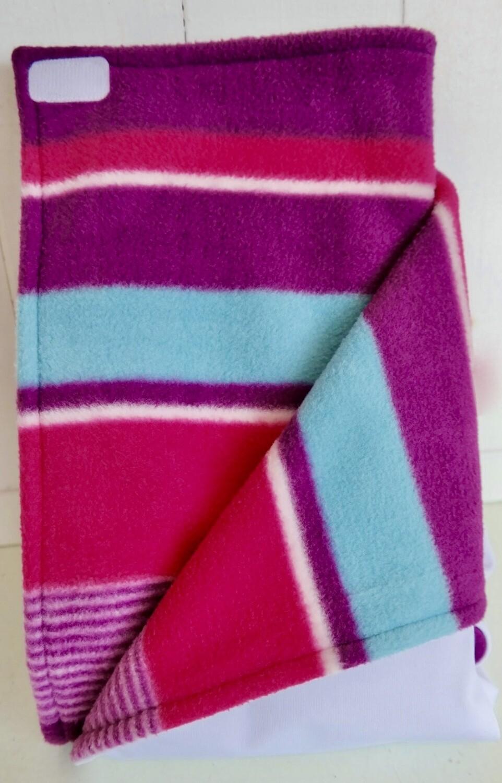 Pitt Patt Blanket 52C-White/Berry Stripe