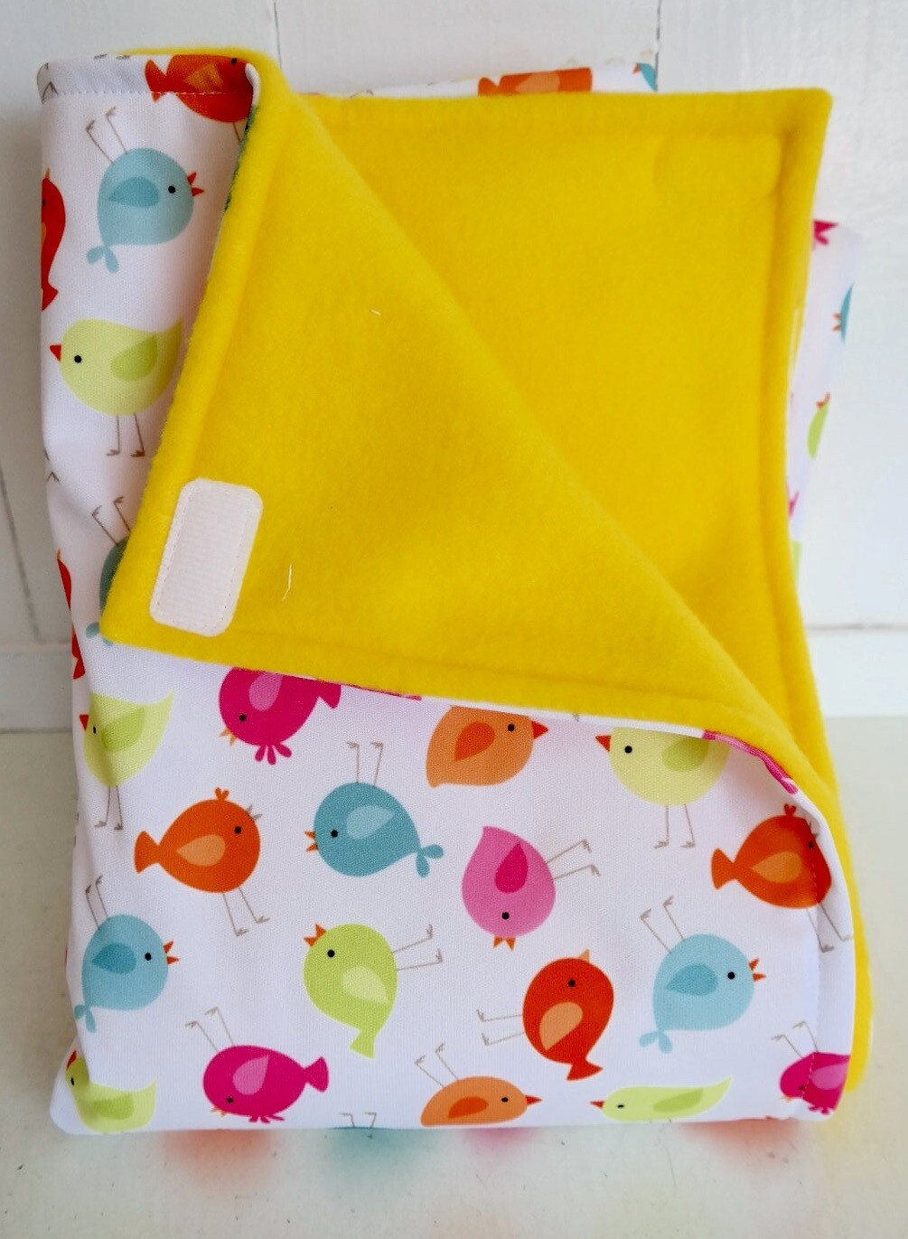 Pitt Patt Blanket 5C-Bird/Yellow