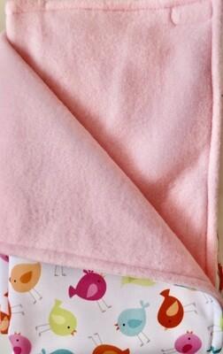 Maine River Otter Blanket 7C-Bird/Pale Pink