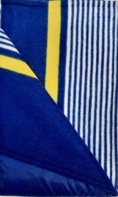 Maine River Otter Blanket 53C-Royal/Blue&Yellow Stripe