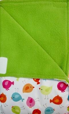 Maine River Otter Blanket 8C-Bird/Green