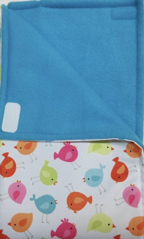 Pitt Patt Blanket 9C-Bird/Aqua