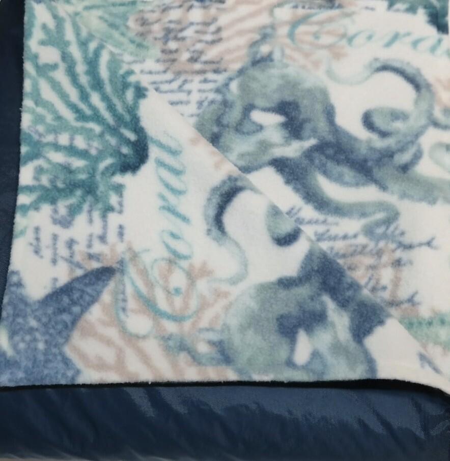 Pitt Patt Blanket 7F- Navy/Octopus