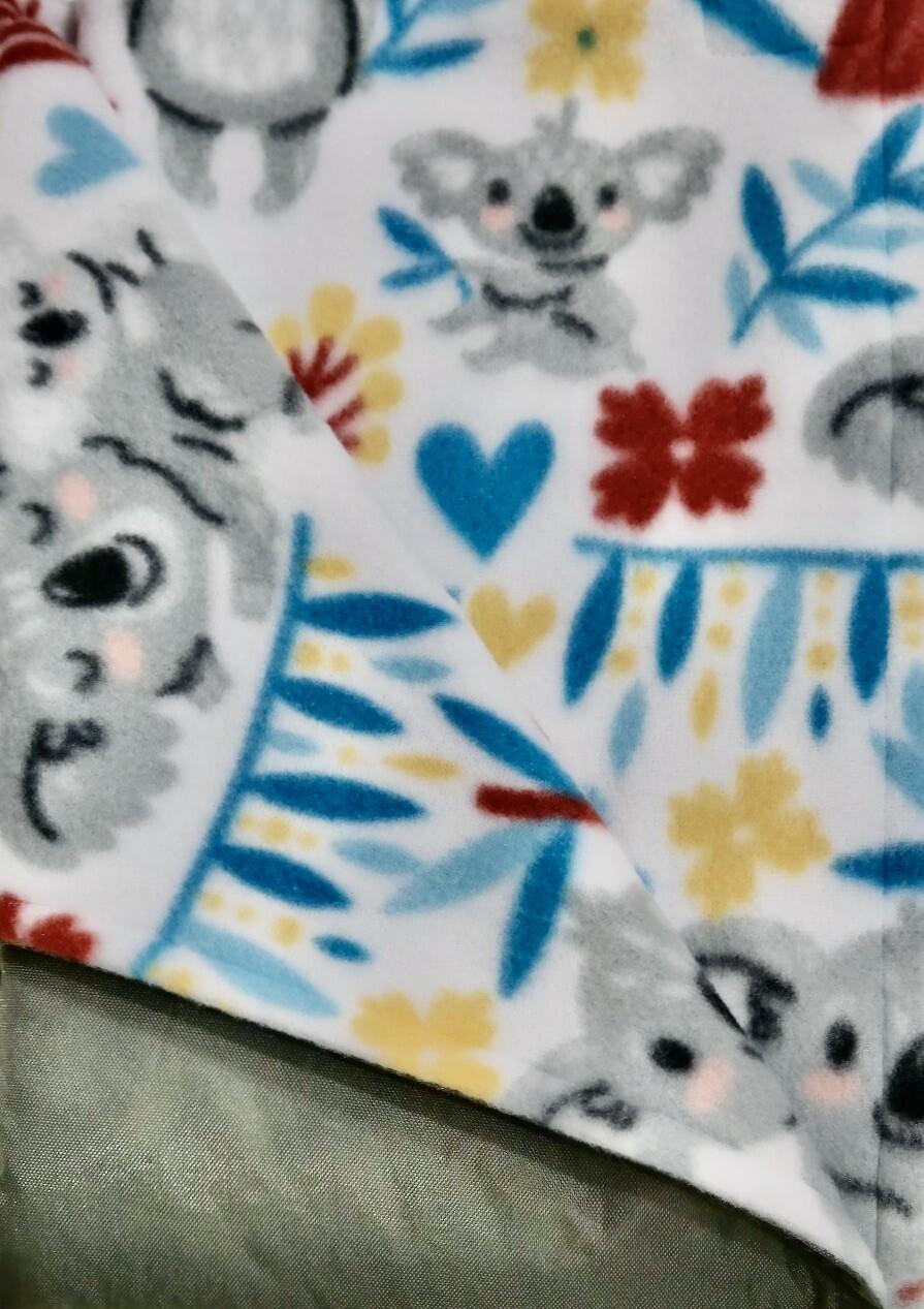 Maine River Otter Blanket 15C-Gray/Koala