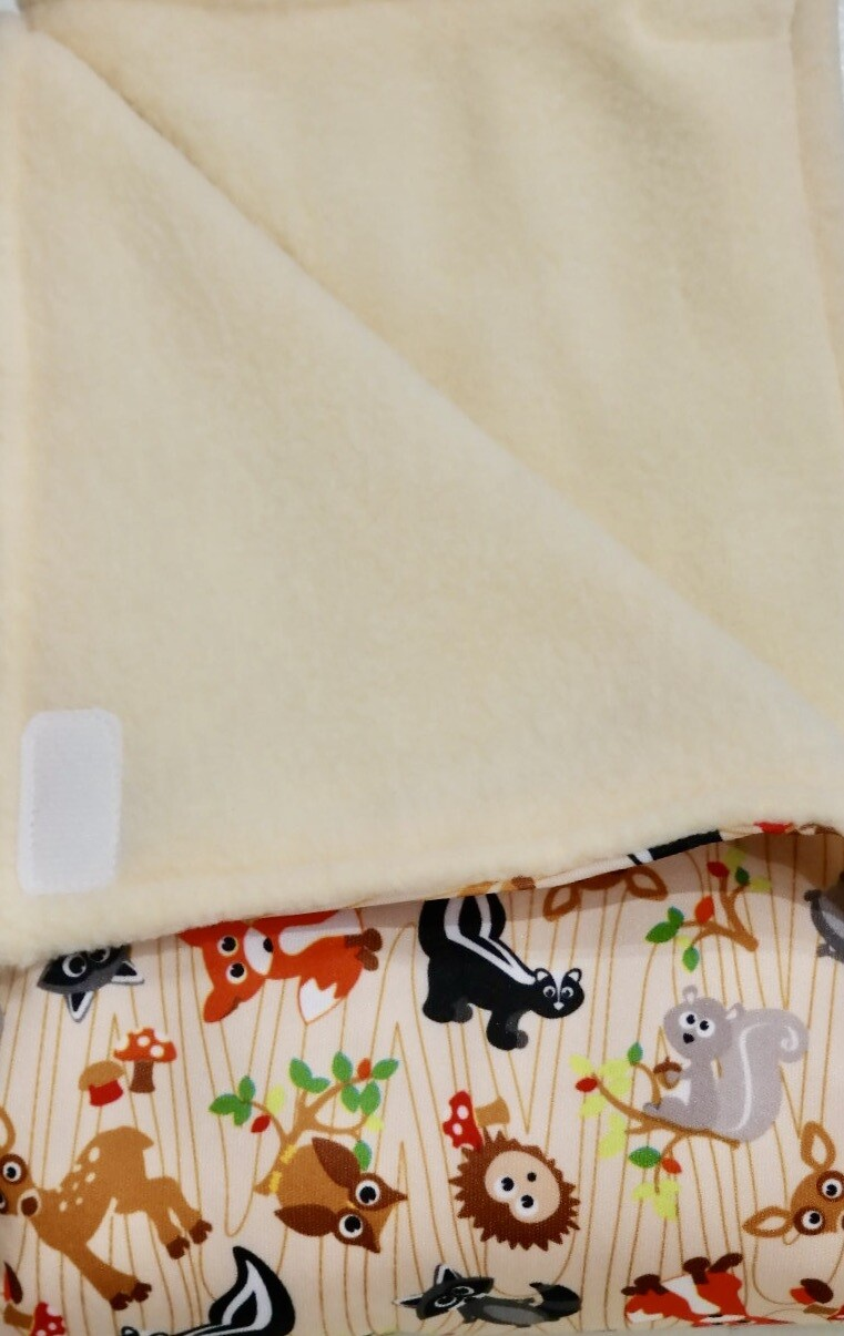 Pitt Patt Blanket 31C- Forest Creatures/Cream