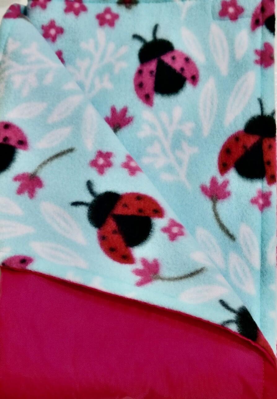 Maine River Otter Blanket 16C-Pink/Ladybug