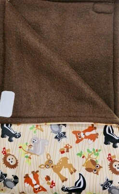 Maine River Otter Blanket 32C- Forest Creatures/Brown