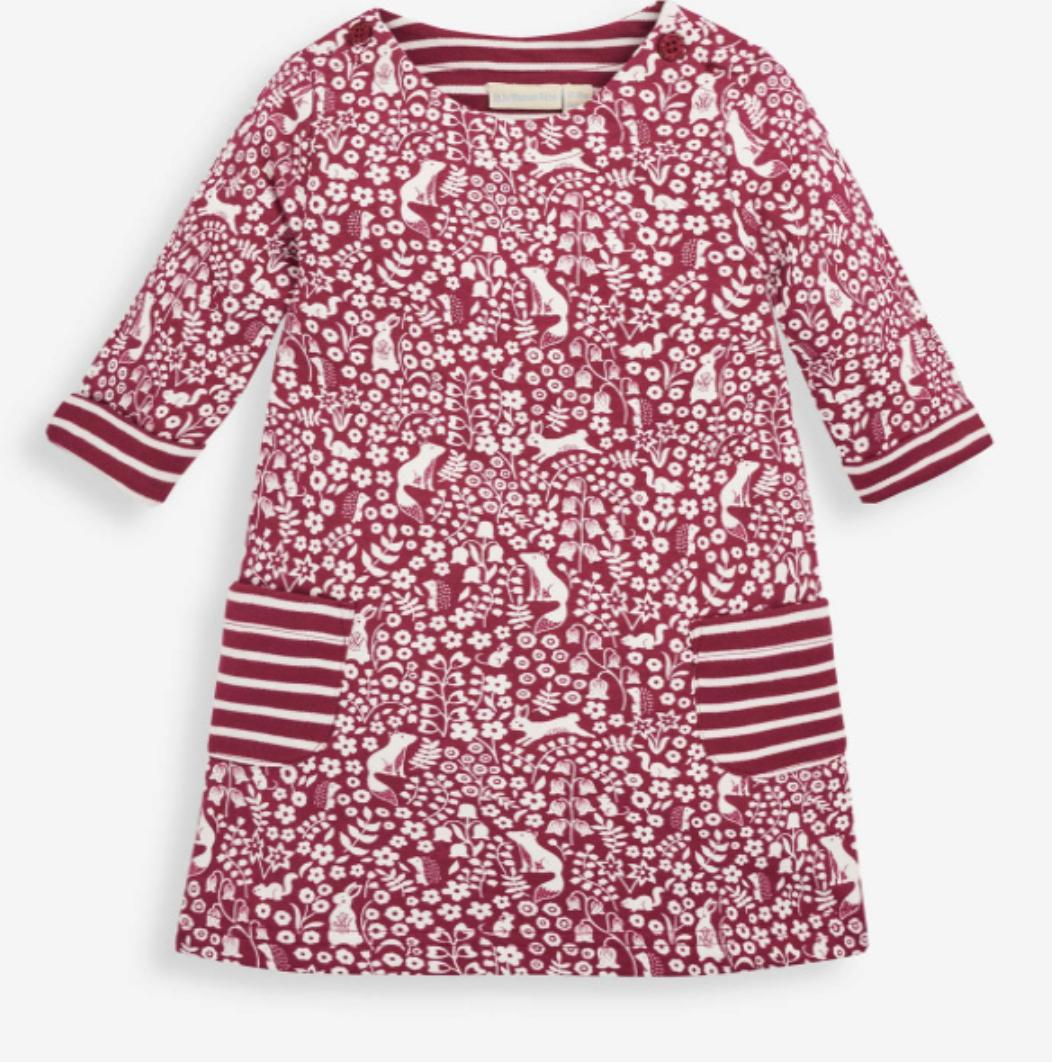 Woodland A Line Dress Berry Size 3/4