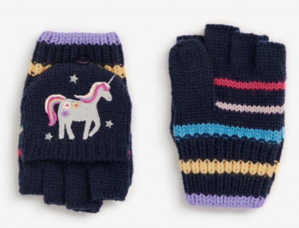Unicorn gloves navy