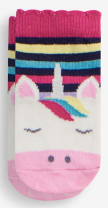 Unicorn Stripe Socks (2-4yr)