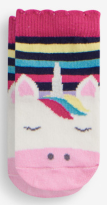 Unicorn Stripe Socks (2-4yr)