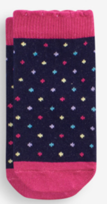 Unicorn Dot Socks (1-2yr)
