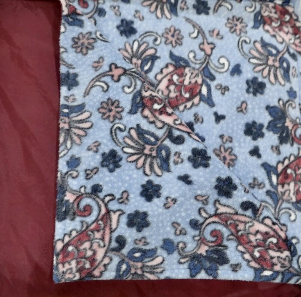 Pitt Patt Blanket wine/blue floral 32F