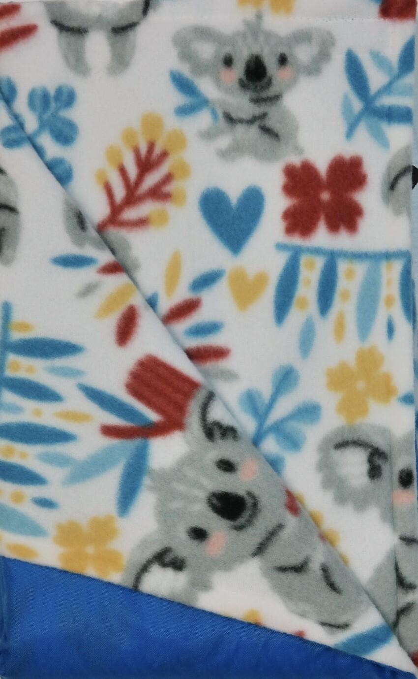 Maine River Otter Blanket 61C- Blue/Koala