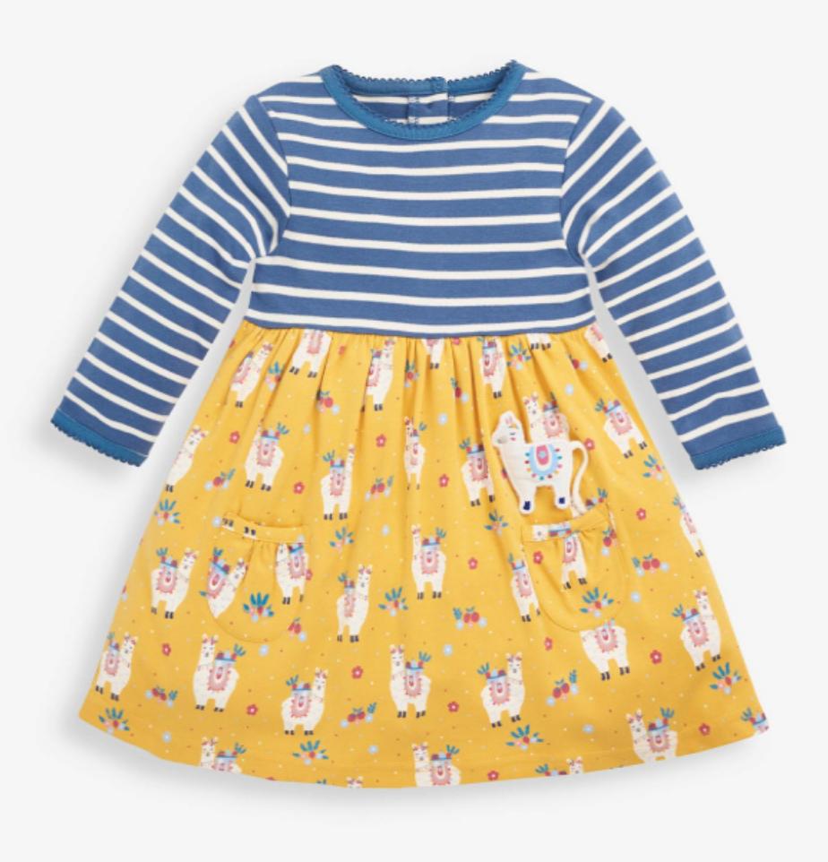 Stripe & Llama dress