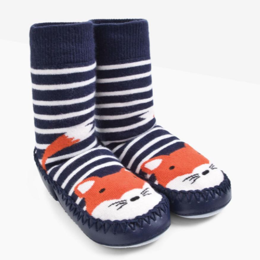 slipper sox fox 6-12mos