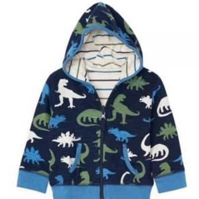 silhouette dinos reversible hoodie