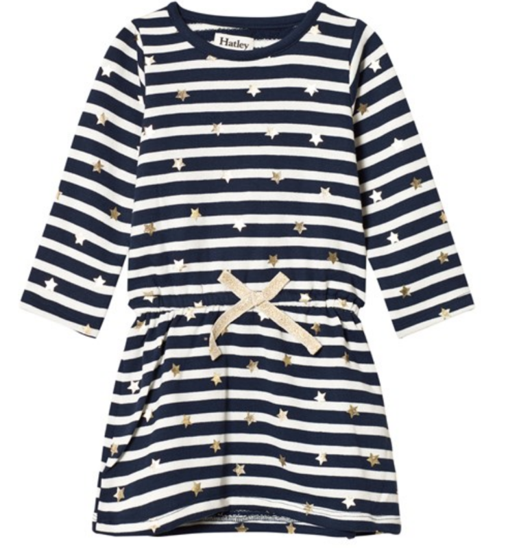 Starry Stripes French Terry Dress  - 7