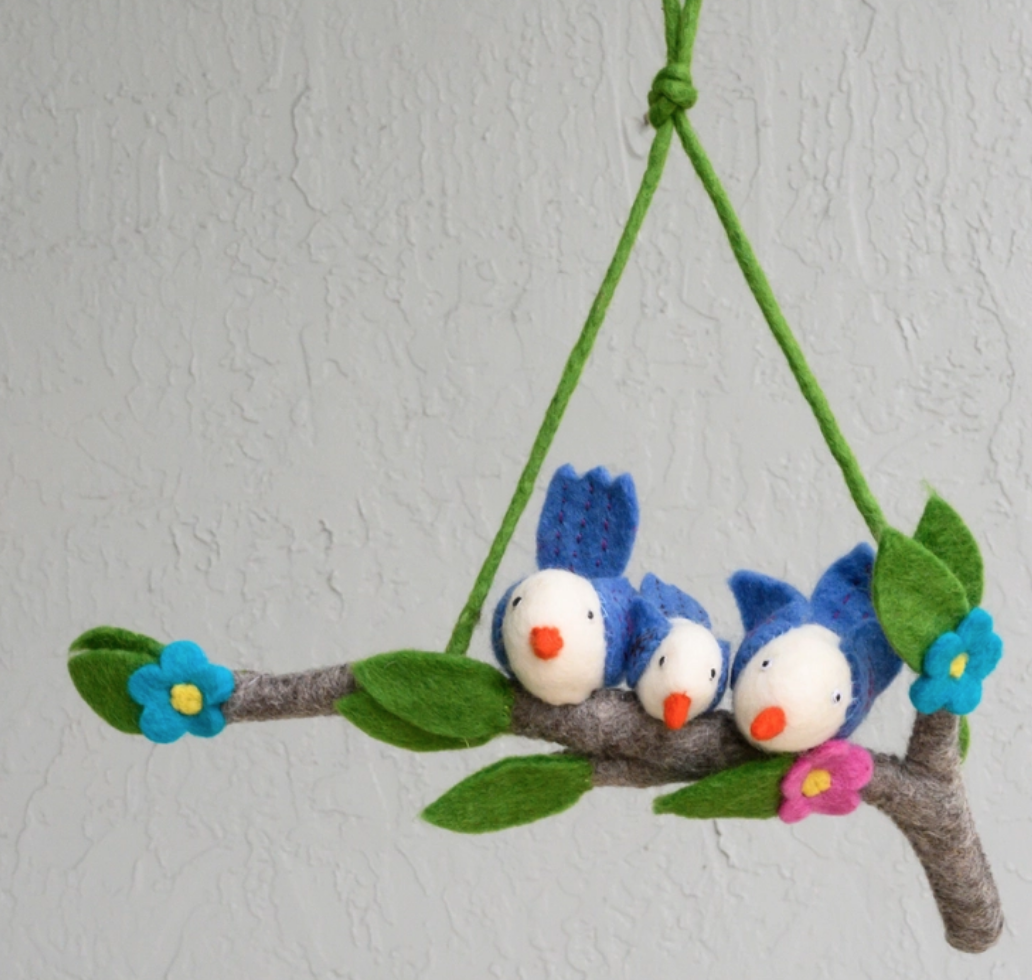 The Winding Road Mobile - birds on branch