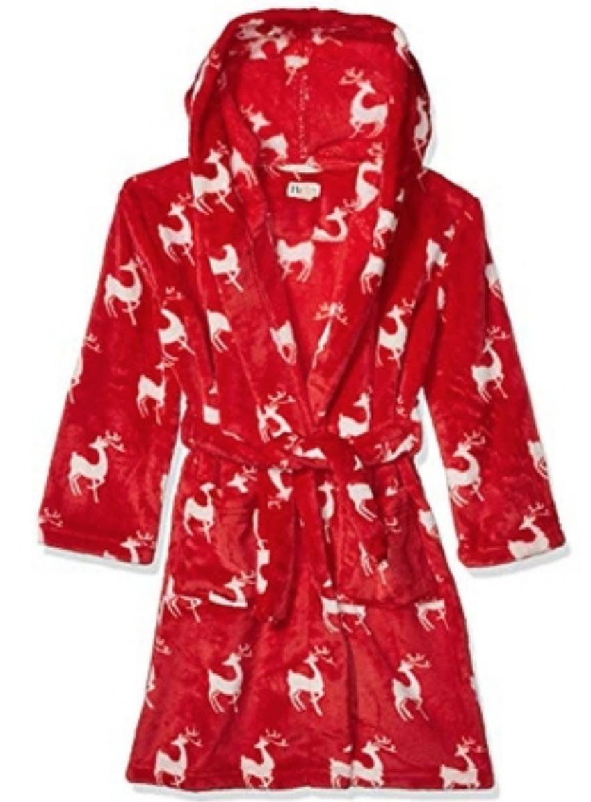 Mistletoe Deer Fleece Robe