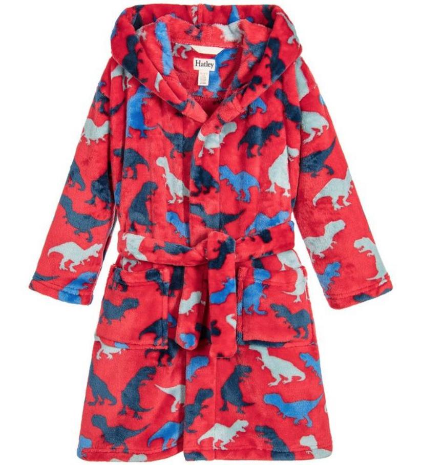 Lots of Dinos fleece robe XL