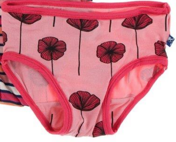 underwear - Strawberry poppies 3/4