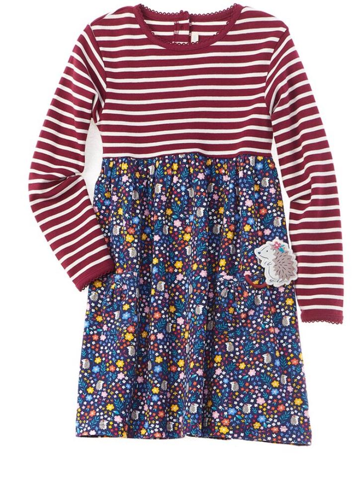 Stripe & Hedgehog floral dress
