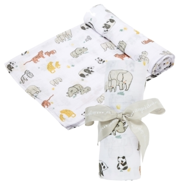 Angel Dear Bamboo Swaddle Safari