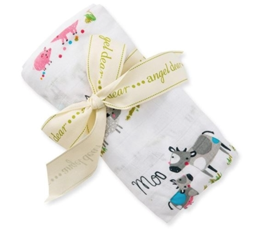 Angel Dear Bamboo Swaddle Farm Yard