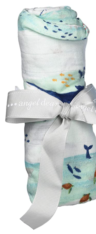 Angel Dear Bamboo Swaddle Whale Wave