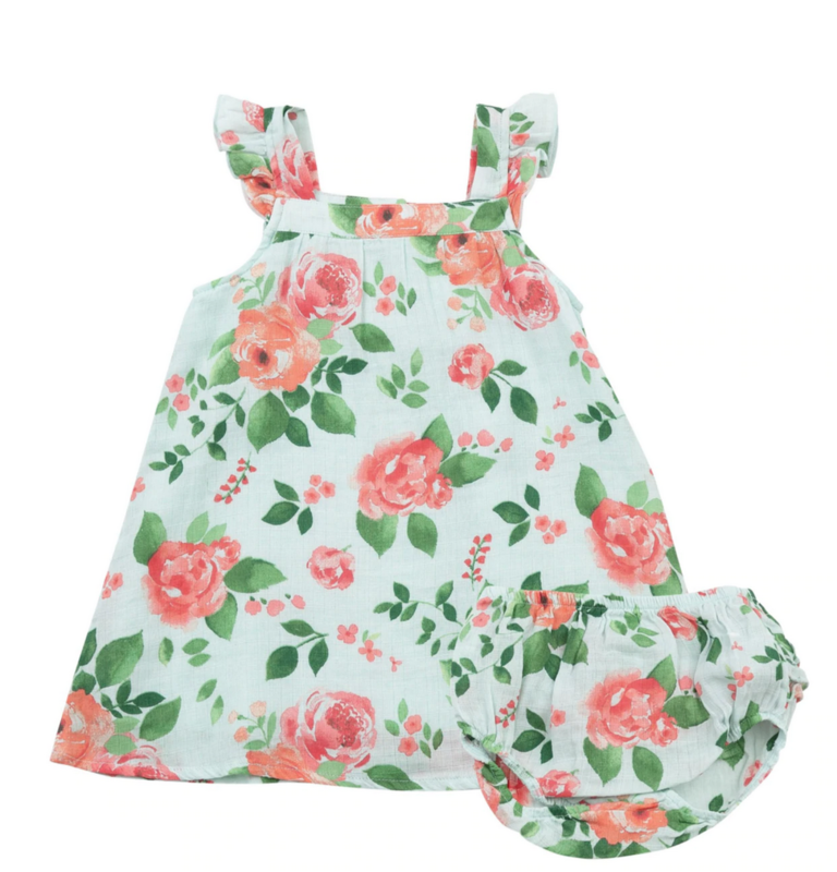 Angel Dear Rose Garden Sundress/Diaper Cover 12-18mo