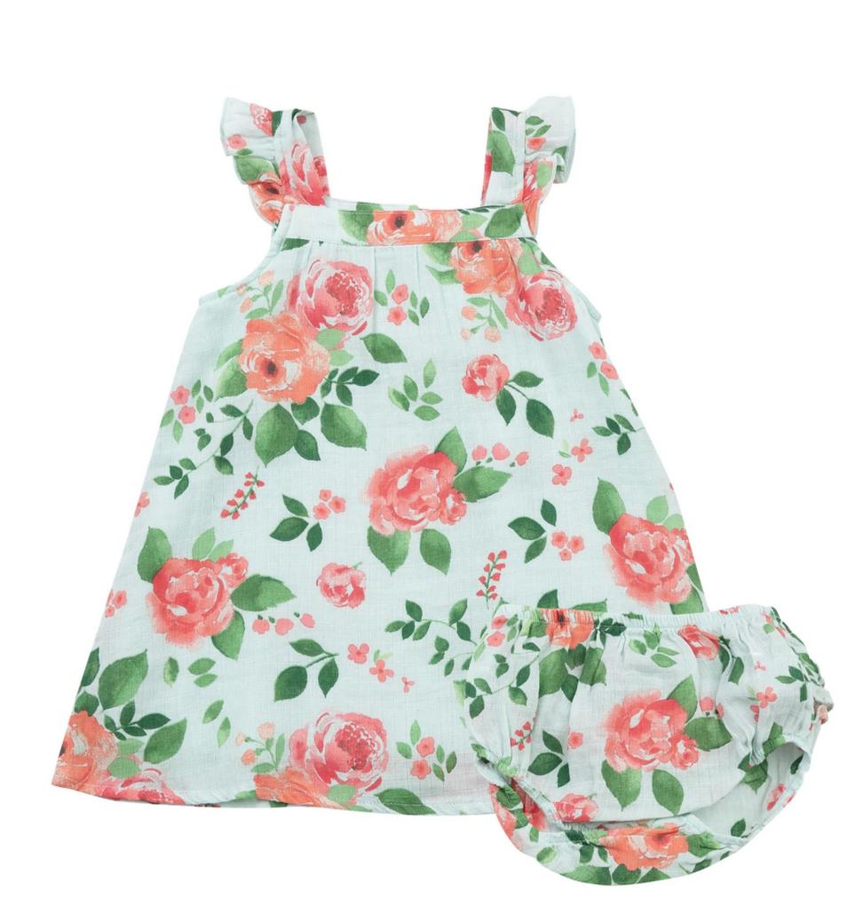 Angel Dear Rose Garden Sundress/Diaper Cover 6-12mo