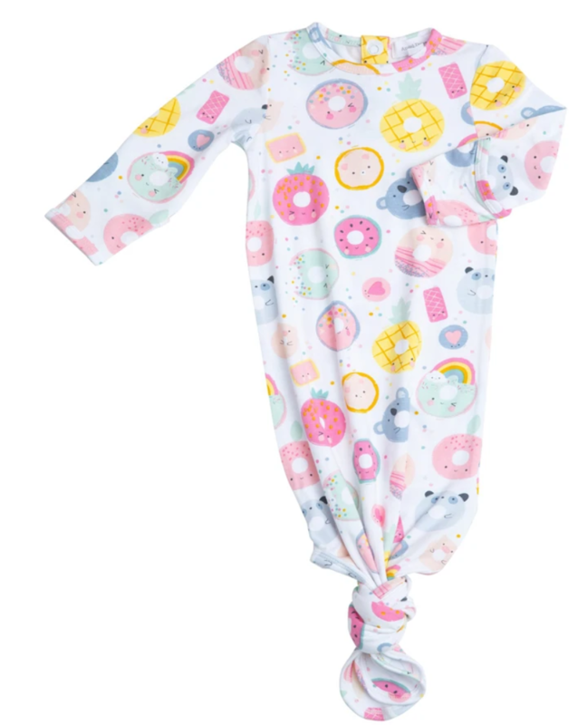 Angel Dear Knotted Gown 0-3mo Donut Smiles