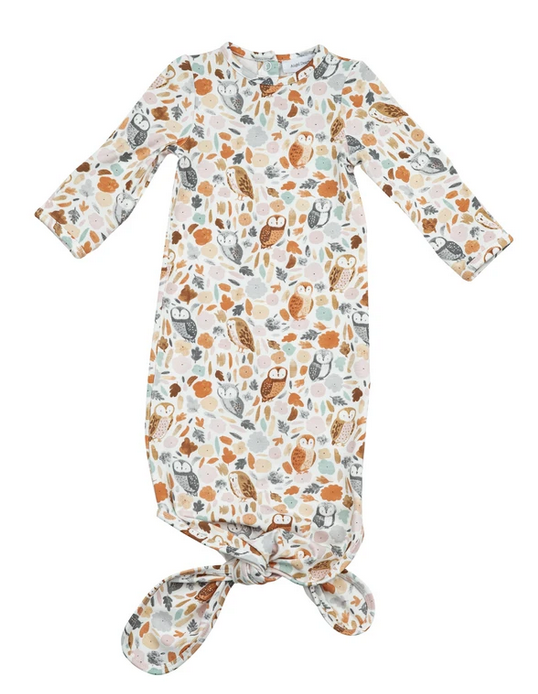 Angel Dear Knotted Gown 0-3mo Autumn Owls