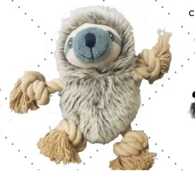 Sloth Rope Dog Toy