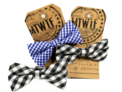 MTWTF Blue Check Bow