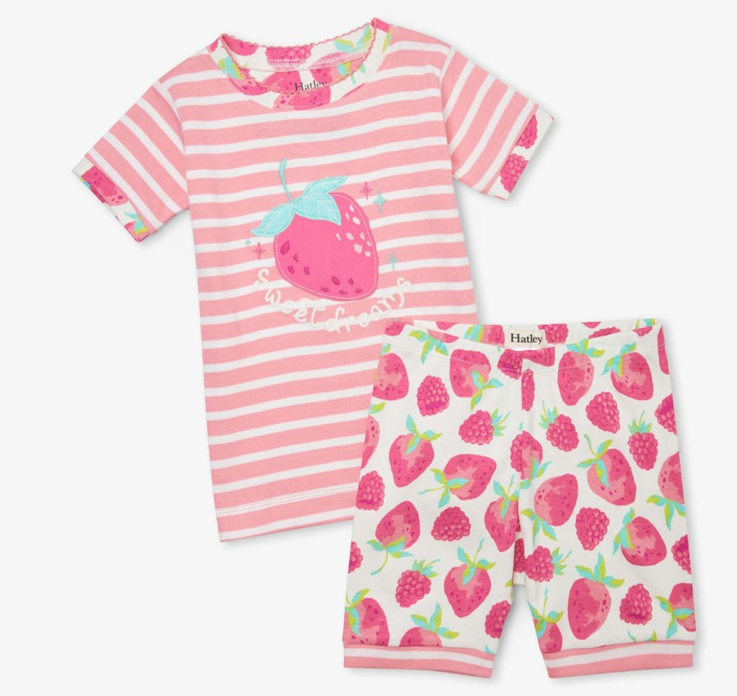 Delicious Berries Organic short pajama set
