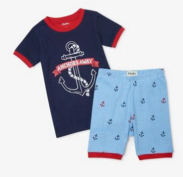 Anchors AwayOrganic Cotton Short Pajama Set