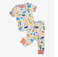 Wild Safari Organic Baby Short Sleeve PJ Set
