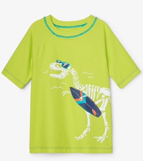 Dino Fossils Short Sleeve Rashguard
