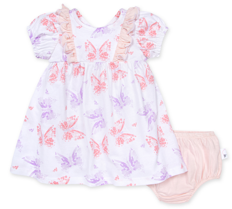 Butterfly Buddies Dress & Diaper Cover Set