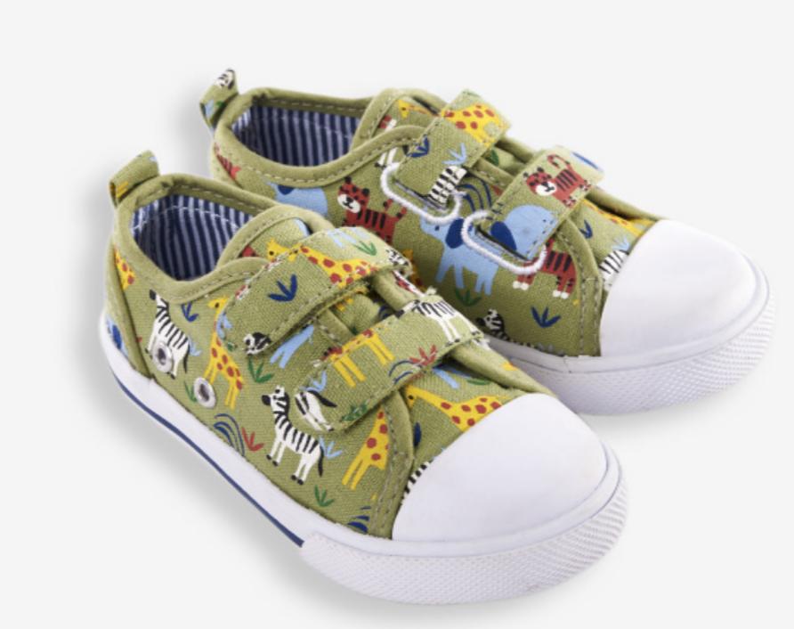 Safari canvas sneakers