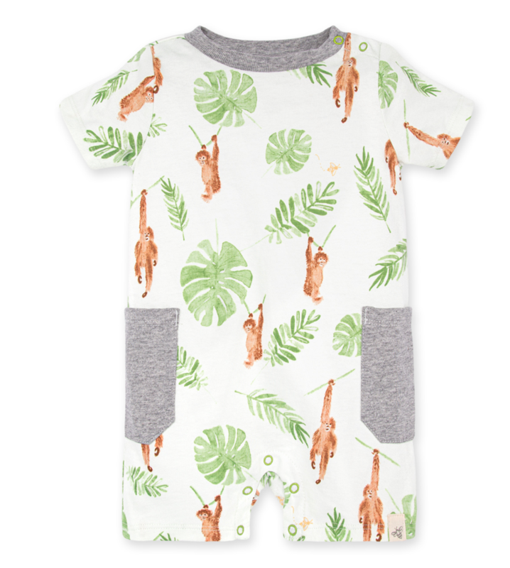 Monkey see monkey do romper