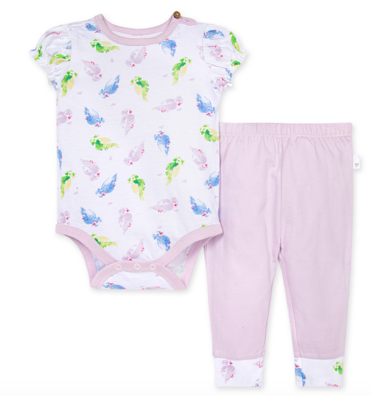 Pretty Parakeet Bodysuit and Pant Set