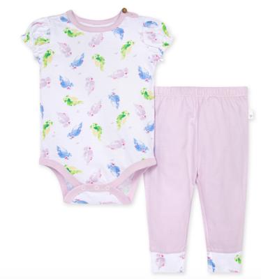 Pretty Parakeet Bodysuit and Pant Set