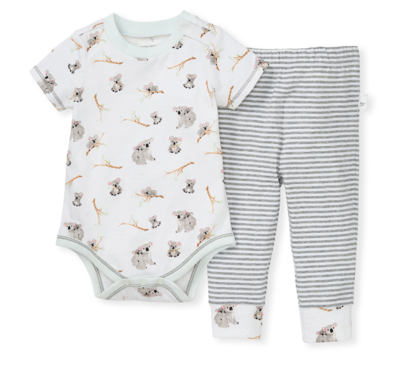 Perfectly koalafied bodysuit & footed pant set