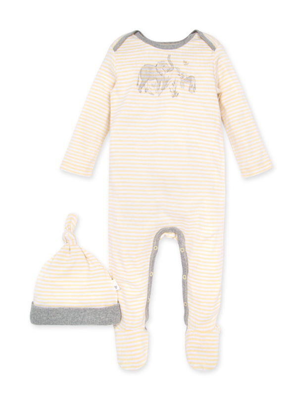 Ello elephant graphic & stripe jumpsuit set