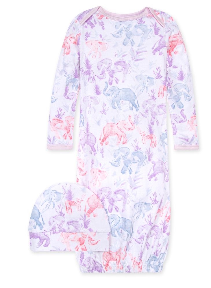 Ello elephant gown & cap set