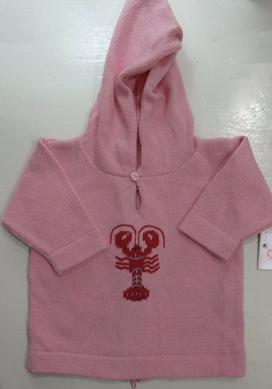 Claver Zip up hooded sweater - 24 mos pink cotton