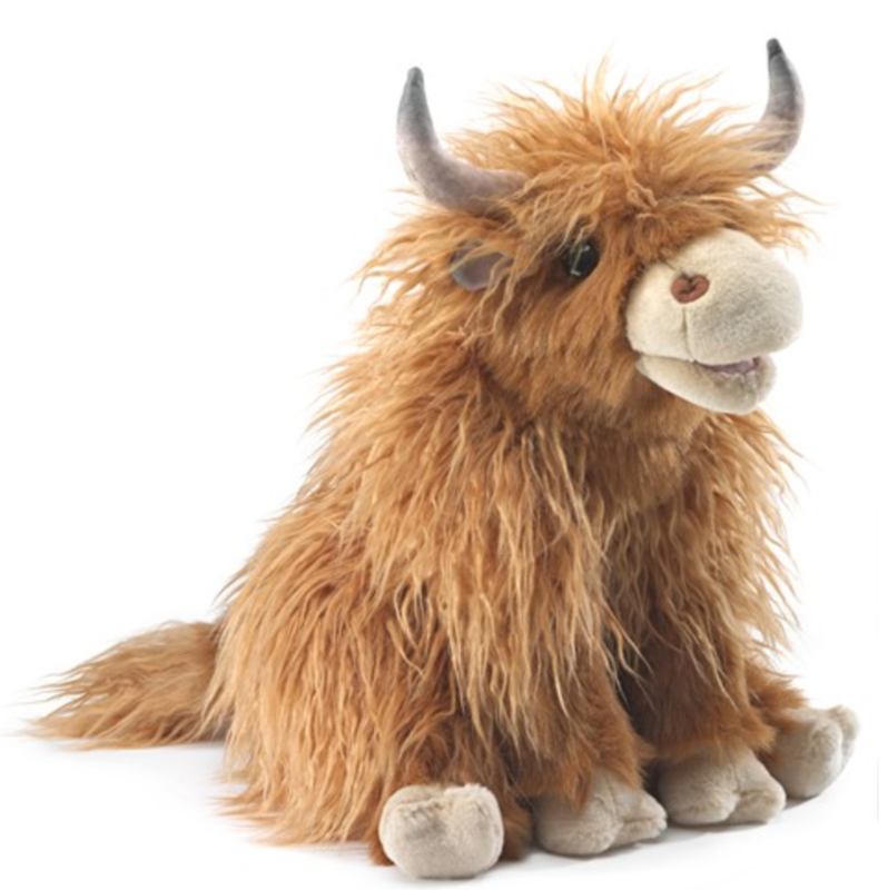 Folkmanis Highland Cow Puppet